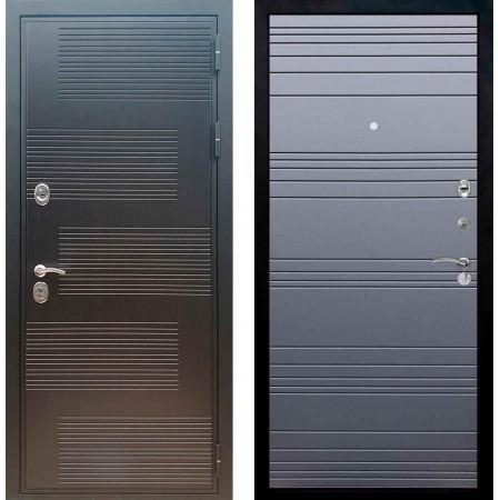 Входная металлическая дверь Рекс Премиум 185 Line Силк титан