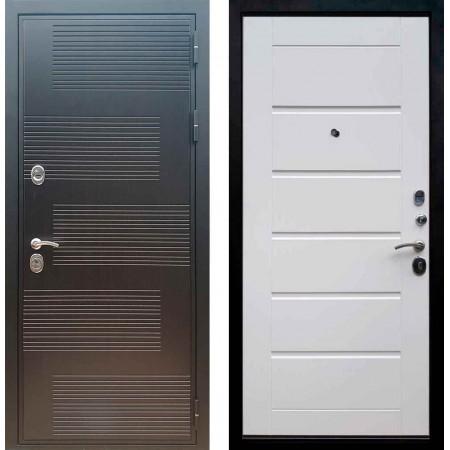 Входная металлическая дверь Рекс Премиум 185 Сити Белый ясень