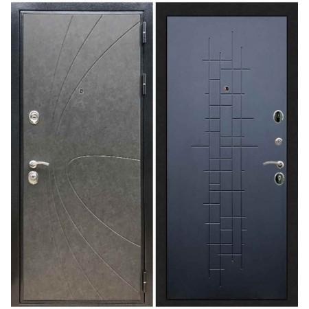 Входная дверь REX Премиум 248 Штукатурка графит/ ФЛ-289 Черный ясень