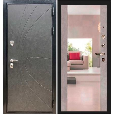 Входная дверь REX Премиум 248 Штукатурка графит/ Сб -16 Бетон темный (с зеркалом )