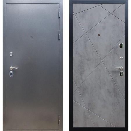 Входная дверь REX 11 Антик серебро ФЛ-291 Бетон светлый