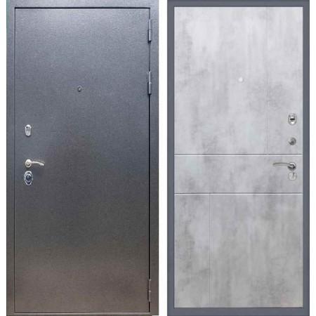 Входная дверь REX 11 Антик серебро ФЛ-290 Бетон светлый