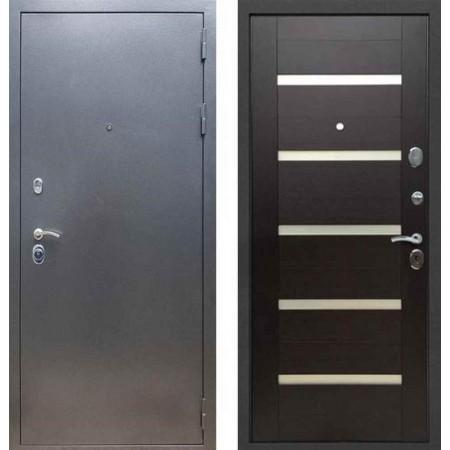 Входная дверь REX 11 Антик серебро СБ-14 эковенге (со стеклом)