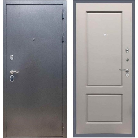 Входная дверь REX 11 Антик серебро ФЛ-117 Грей софт
