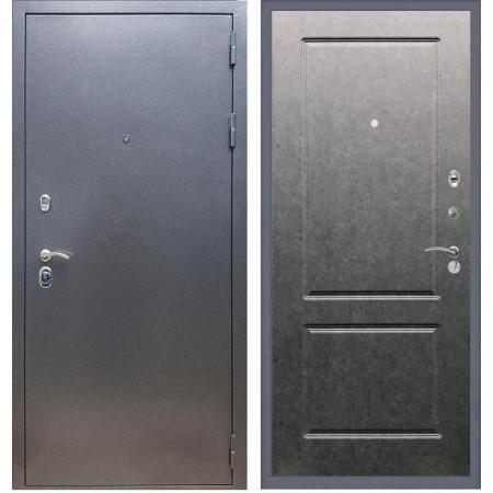 Входная дверь REX 11 Антик серебро ФЛ-117 Штукатурка графит