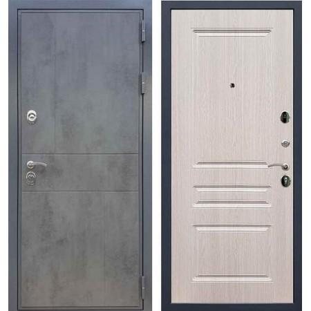 Входная дверь REX 290 Темный бетон / ФЛ-243 Беленый дуб