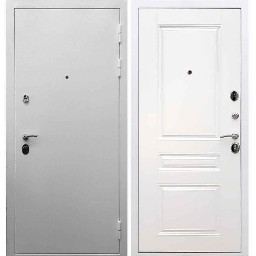 Входная дверь REX 5А Белая шагрень / ФЛ-243 Силк сноу