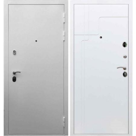 Входная дверь REX 5А Белая шагрень / ФЛ-246 Софт белый