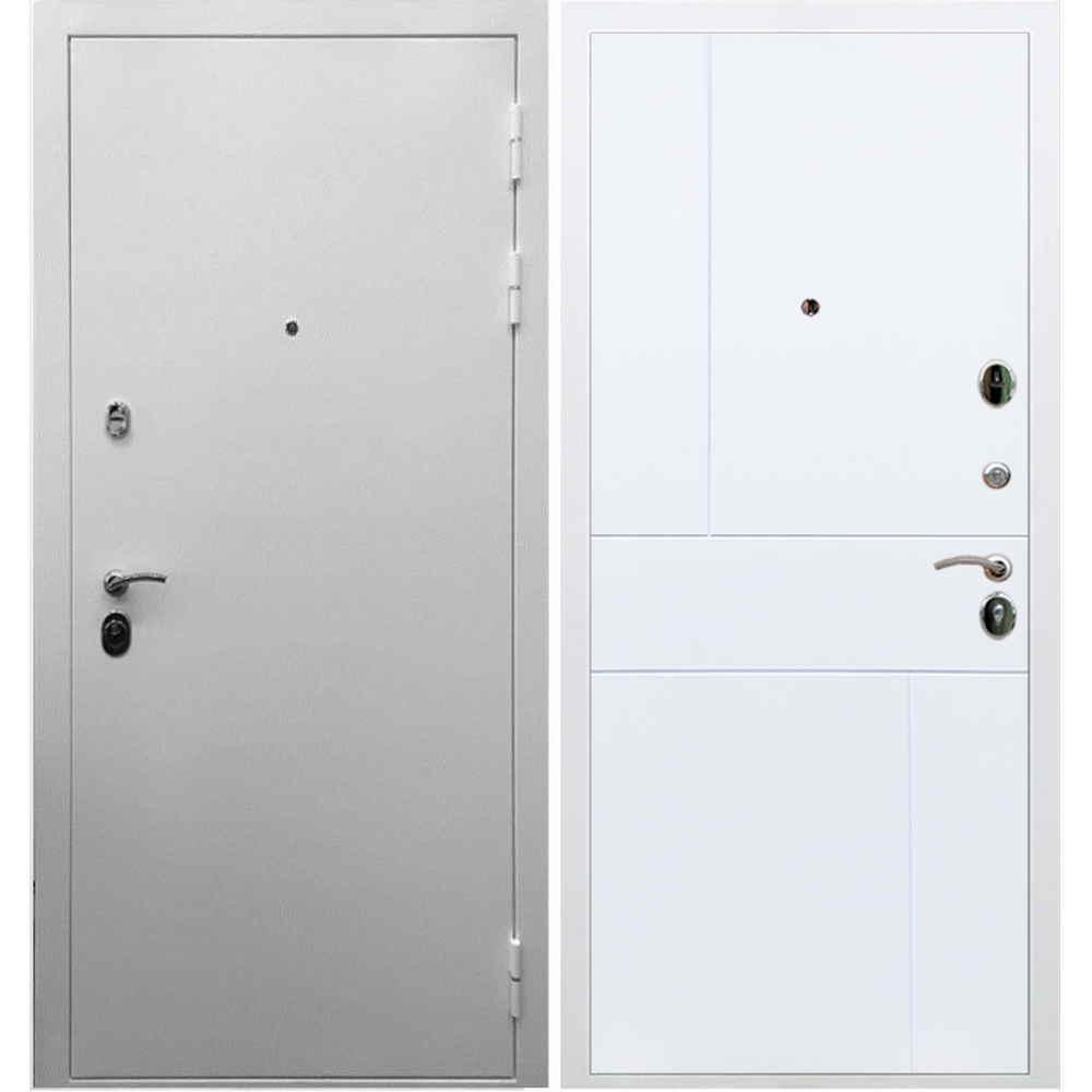 Входная дверь REX 5А Белая шагрень / ФЛ-290 Софт белый