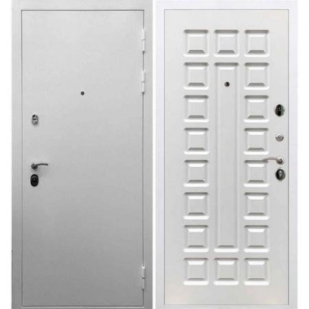 Входная дверь REX 5А Белая шагрень / ФЛ-183 Белый ясень