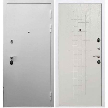 Входная дверь REX 5А Белая шагрень / ФЛ-289 Белый ясень