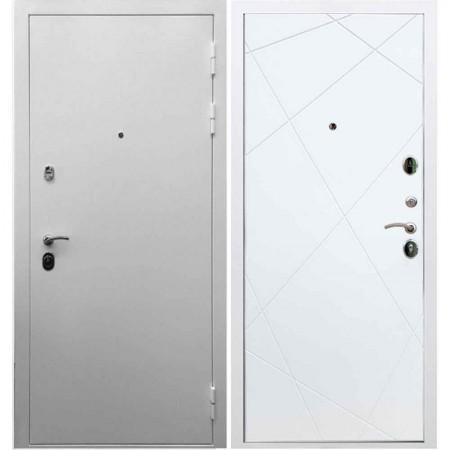Входная дверь REX 5А Белая шагрень / ФЛ-291 Силк сноу