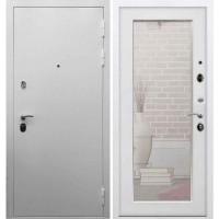 Входная дверь REX 5А Белая шагрень / Пастораль Белый ясень (с зеркалом)