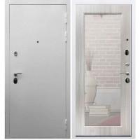 Входная дверь REX 5А Белая шагрень / Пастораль Сандал белый (с зеркалом)