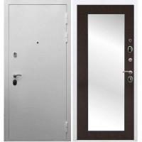 Входная дверь REX 5А Белая шагрень / Пастораль Венге (с зеркалом)