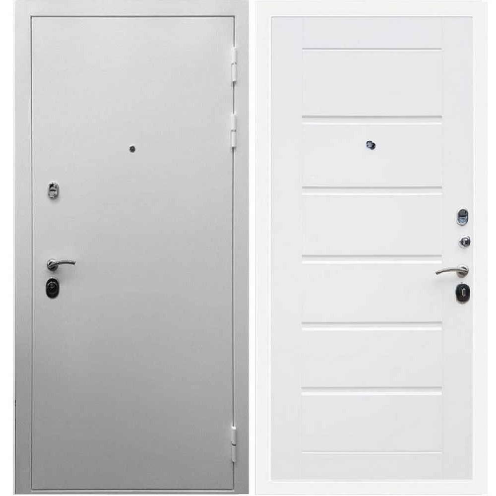 Входная дверь REX 5А Белая шагрень / Сити Белый ясень