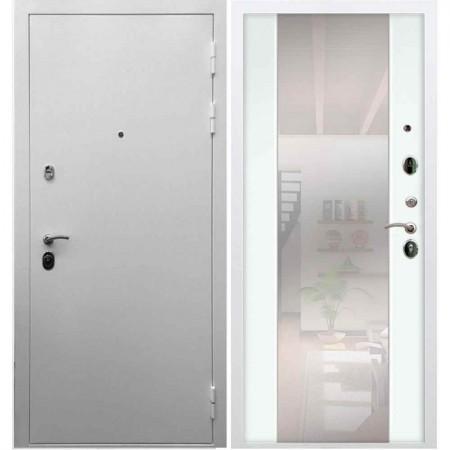Входная дверь REX 5А Белая шагрень / СБ-16 Белый ясень (с зеркалом)