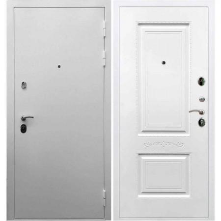 Входная дверь REX 5А Белая шагрень / Смальта Эмаль белая