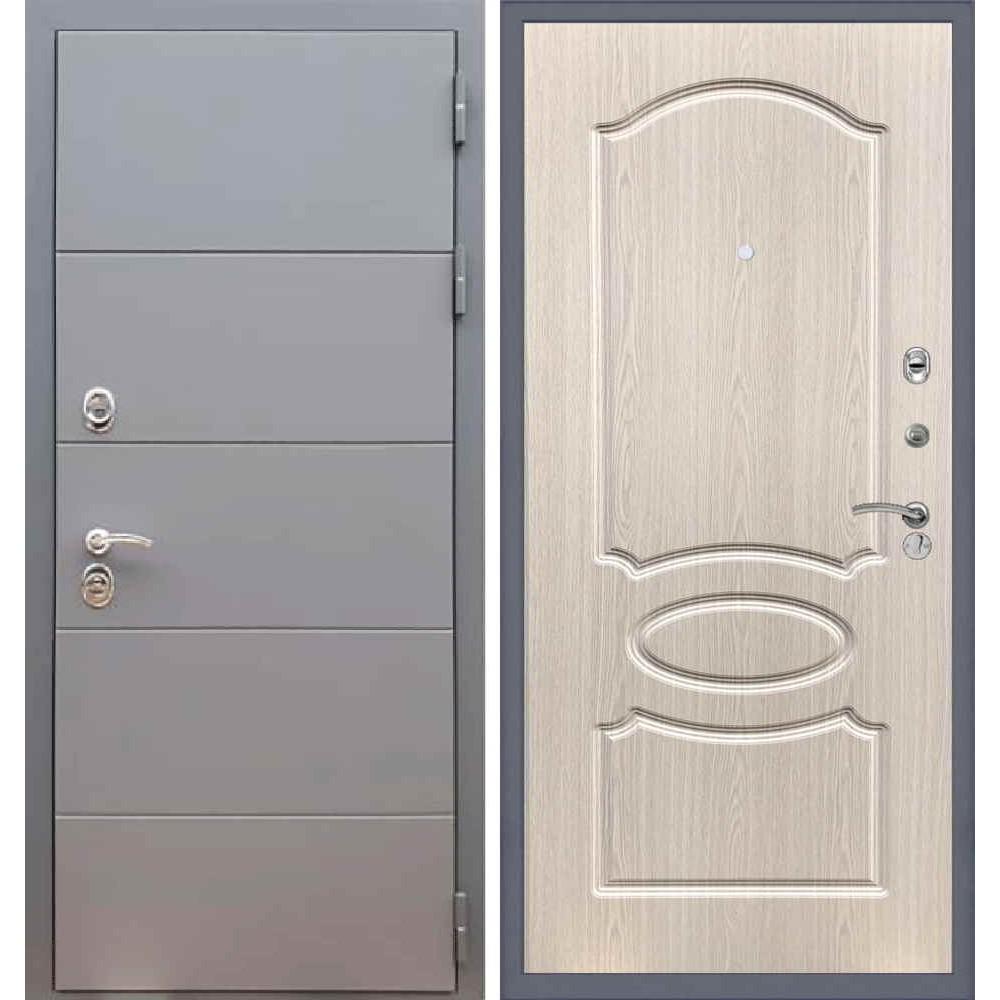 Входная дверь REX 19 ФЛ-128 Беленый дуб