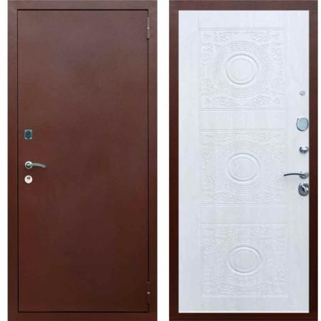 Входная квартирная дверь Рекс 1A Медный антик Д 18 Сосна белая