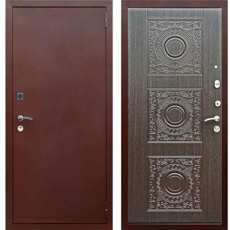 Входная металлическая дверь Рекс 1A Медный антик Д 18 Венге