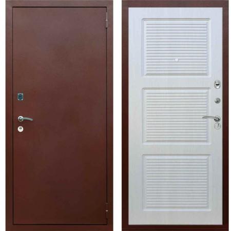 Входная металлическая дверь Рекс 1A Медный антик ФЛ 1 Лиственница бежевая