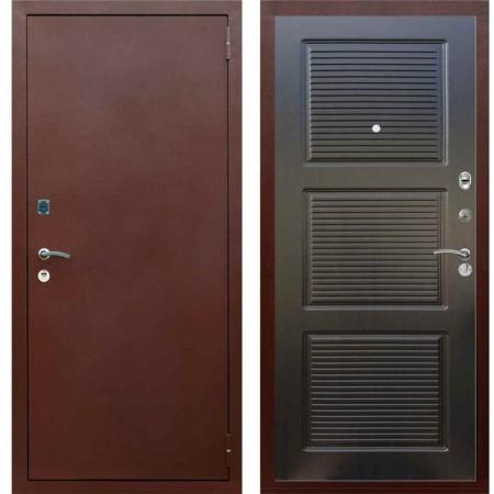 Входная дверь металлическая Рекс 1A Медный антик ФЛ 1 Венге