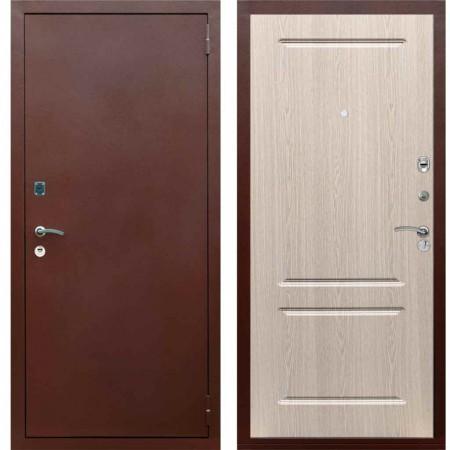 Входная металлическая дверь Рекс 1A Медный антик ФЛ 117 Беленый дуб