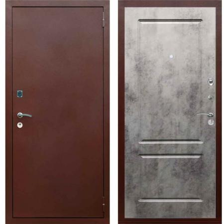 Входная металлическая дверь Рекс 1A Медный антик ФЛ 117 Бетон темный