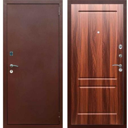 Входная металлическая дверь Рекс 1A Медный антик ФЛ 117 Орех итальянский