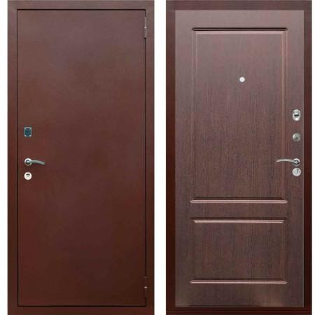 Входная металлическая дверь Рекс 1A Медный антик ФЛ 117 Орех премиум