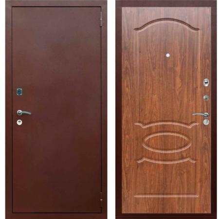 Входная металлическая дверь Рекс 1A Медный антик ФЛ 128 Береза мореная