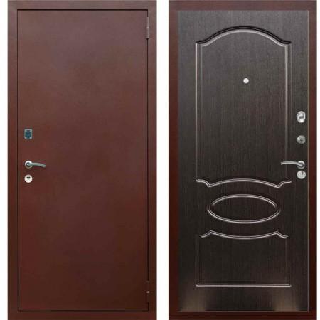 Входная металлическая дверь Рекс 1A Медный антик ФЛ 128 Венге