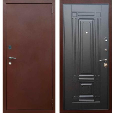Входная металлическая дверь Рекс 1A Медный антик ФЛ 2 Венге