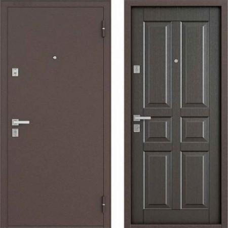 Входная дверь Бульдорс 12С в цвете орех темный  (Антивандальные)