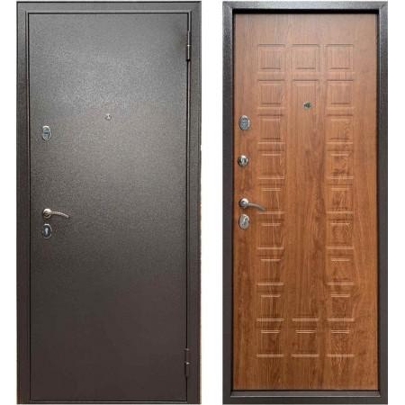 Железная дверь в квартиру Бульдорс Эконом-3 Дуб Золотой (Антивандальные)