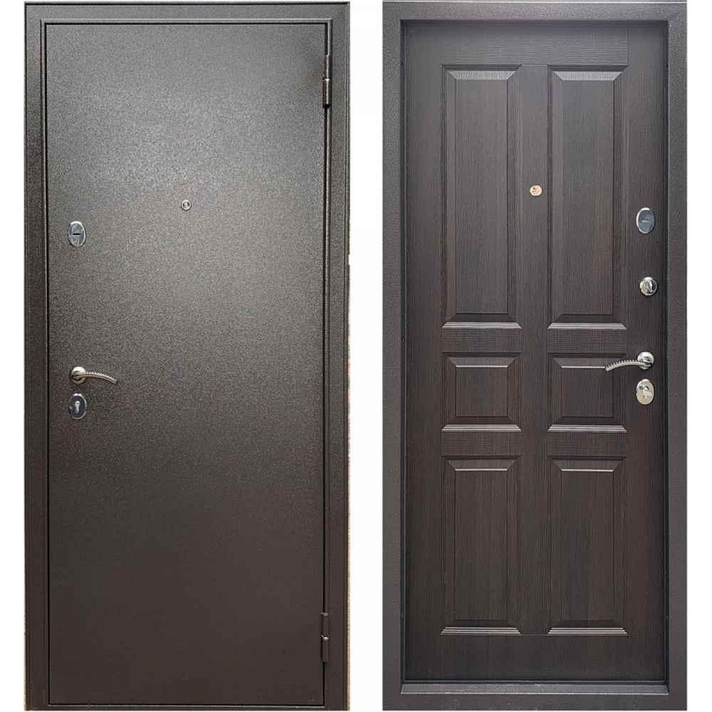 Входная дверь Бульдорс Эконом-3 Ларче шоколад С-2 (Антивандальные)