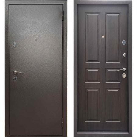 Дверь для квартиры Бульдорс Эконом-3 Ларче шоколад С-2 (Антивандальные)