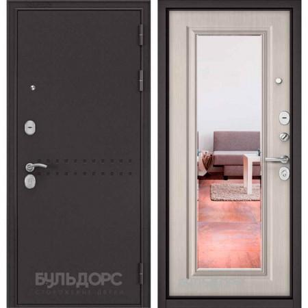 Входная дверь Бульдорс MASS 90 Ларче бьянко 9S-111 (с зеркалом)