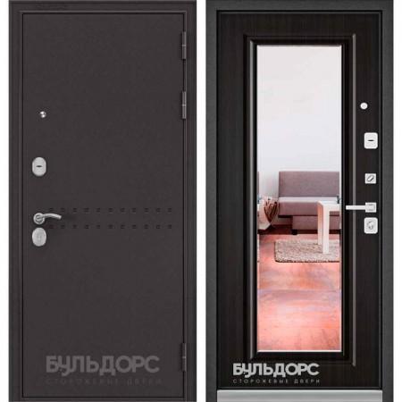 Входная дверь Бульдорс MASS 90 Ларче шоколад (с зеркалом)