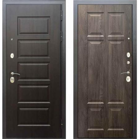 Входная дверь Бульдорс MASS 90 PP Дуб шале серебро (с шумоизоляцией)