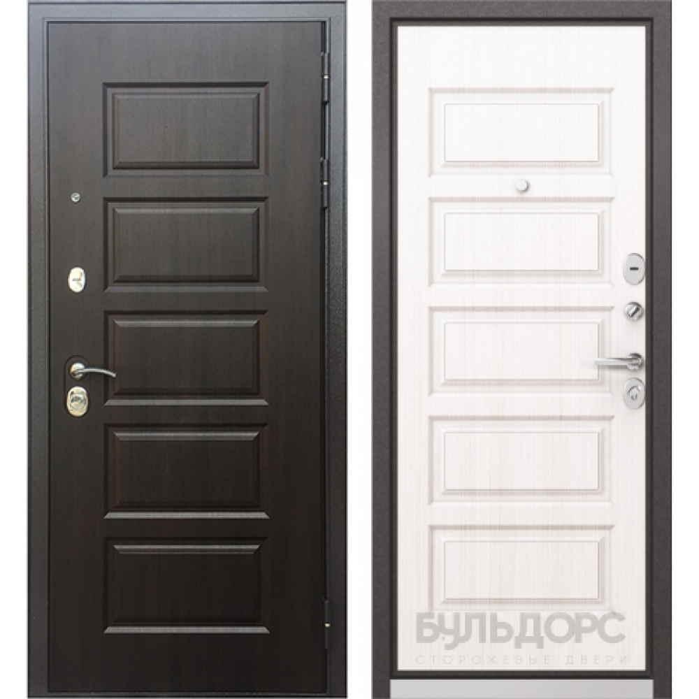 Входная дверь Бульдорс MASS 90 PP Дуб светлый матовый (с шумоизоляцией)