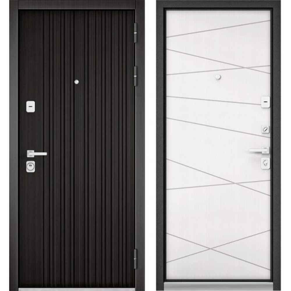 Входная дверь Бульдорс Premium 90 РР Ларче темный / Белый софт 9Р (с шумоизоляцией)