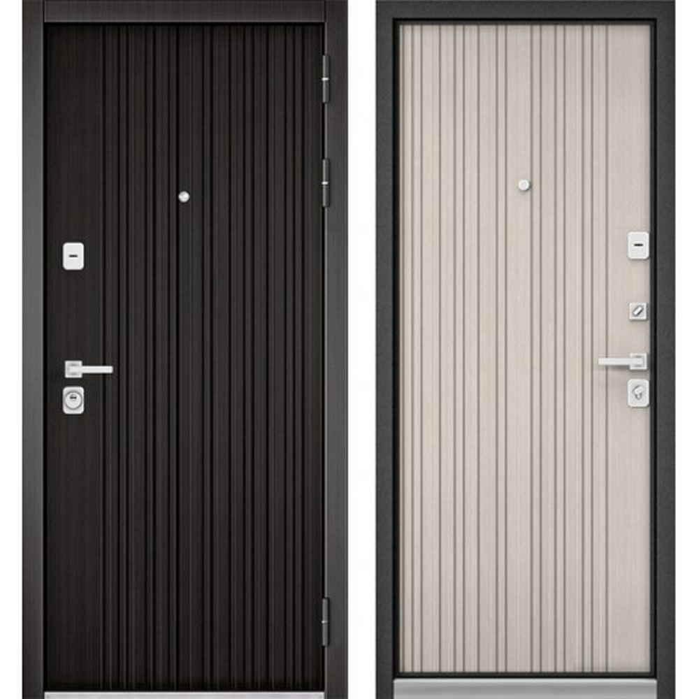 Входная дверь Бульдорс Premium 90 РР Ларче темный / Ларче бьянко 9Р (Трехконтурные)