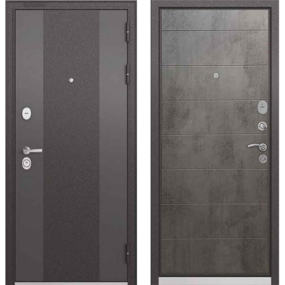 Входная дверь Бульдорс Standart 90 9K-4 Бетон серый (Трехконтурные)