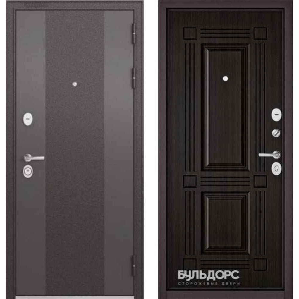 Входная дверь Бульдорс Standart 90 9K-4 Ларче темный