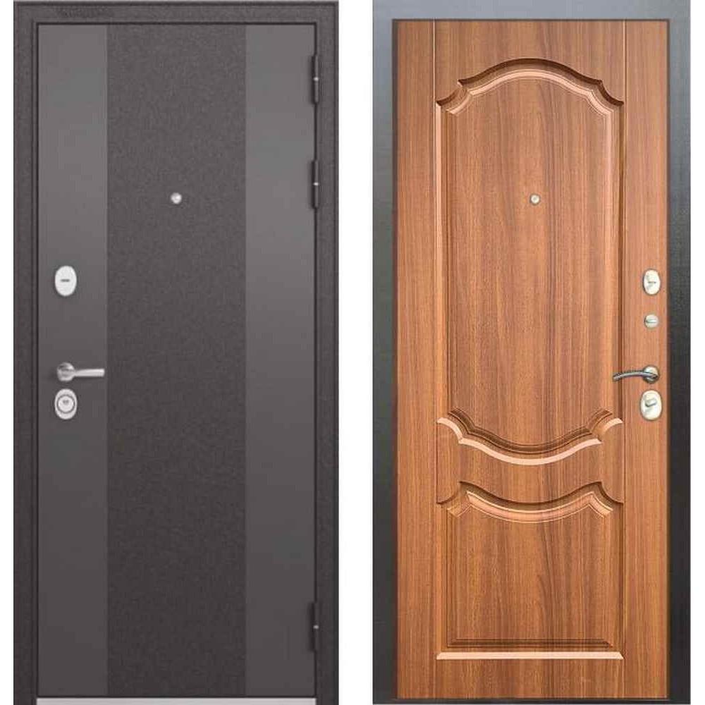 Входная дверь Бульдорс Standart 90 9K-4 Орех лесной (Трехконтурные)