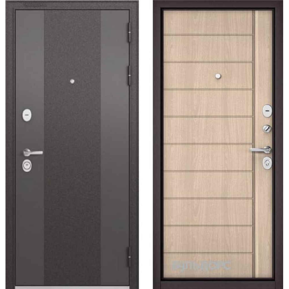 Входная дверь Бульдорс Standart 90 9K-4 Ясень ривьера крем (Трехконтурные)