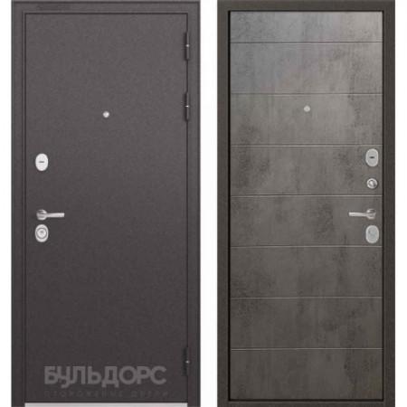Входная дверь Бульдорс Standart 90 Бетон серый (Трехконтурные)