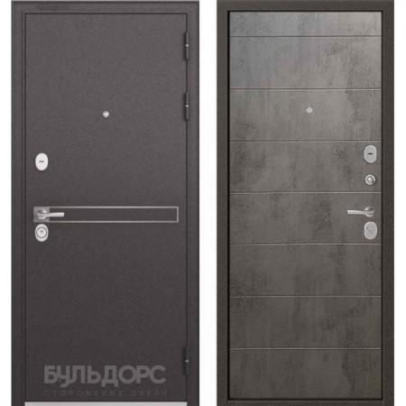Входная дверь Бульдорс Standart 90 D-4 Бетон серый (Трехконтурные)